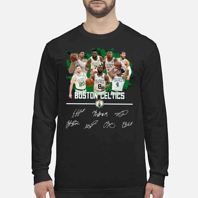 Boston Celtics Players Signatures Long Sleeved T-Shirt