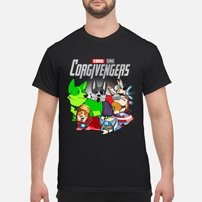 Corgi Avengers Marvel Avengers Endgame Shirt