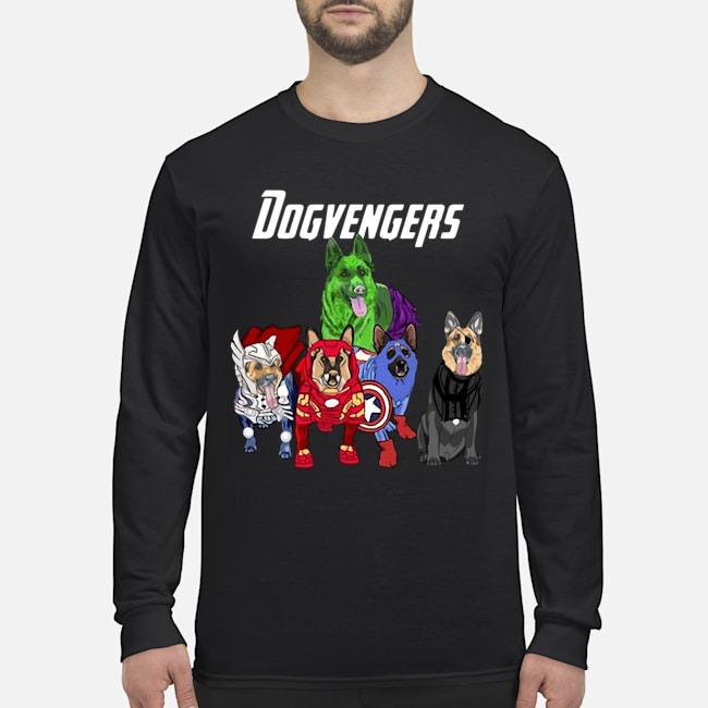 Dogvengers Frenchie Avengers German Shepherd Beauty Long Sleeved Shirt