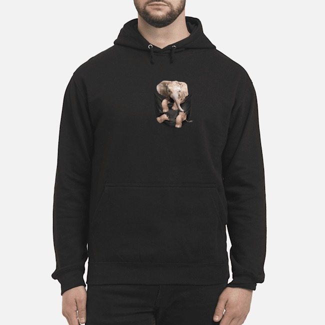 Elephant In Pocket Hoodie