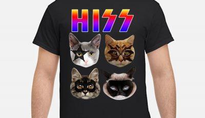 Hiss Funny Cat Kiss Shirt
