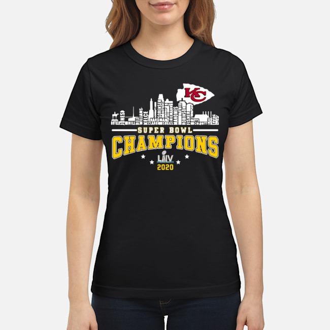 Kansas City Chiefs Player Name Super Bowl Champions 2020 Name Ladies