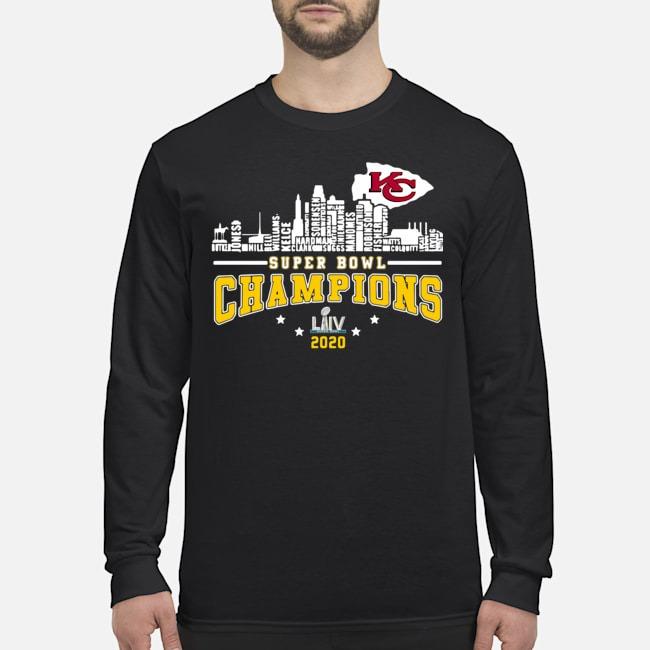 Kansas City Chiefs Player Name Super Bowl Champions 2020 Name Long Sleeved T-Shirt