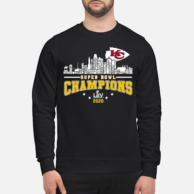 Kansas City Chiefs Player Name Super Bowl Champions 2020 Name Sweater