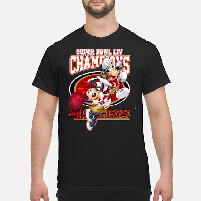 Mickey Minnie Mouse Super Bowl Liv Champions San Francisco 49ers Shirt
