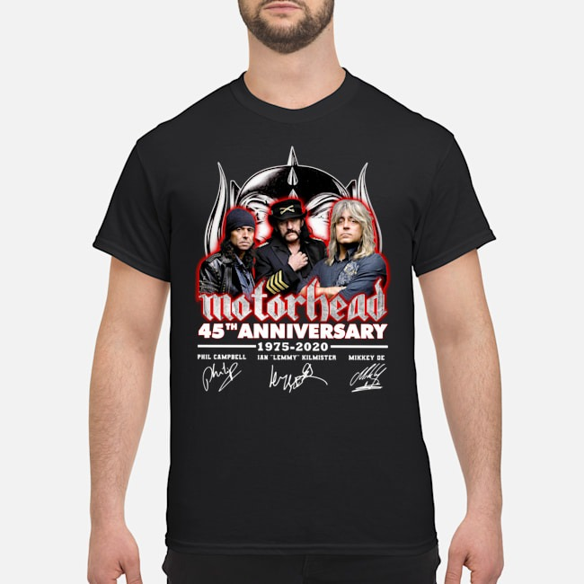 Motorhead 45th Anniversary 1975 2020 Signatures Shirt