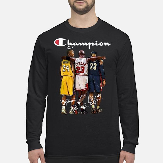 Rip Kobe Bryant Michael Jordan Lebron James Champion Signatures Long Sleeved Shirt