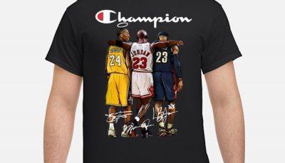 Rip Kobe Bryant Michael Jordan Lebron James Champion Signatures Shirt
