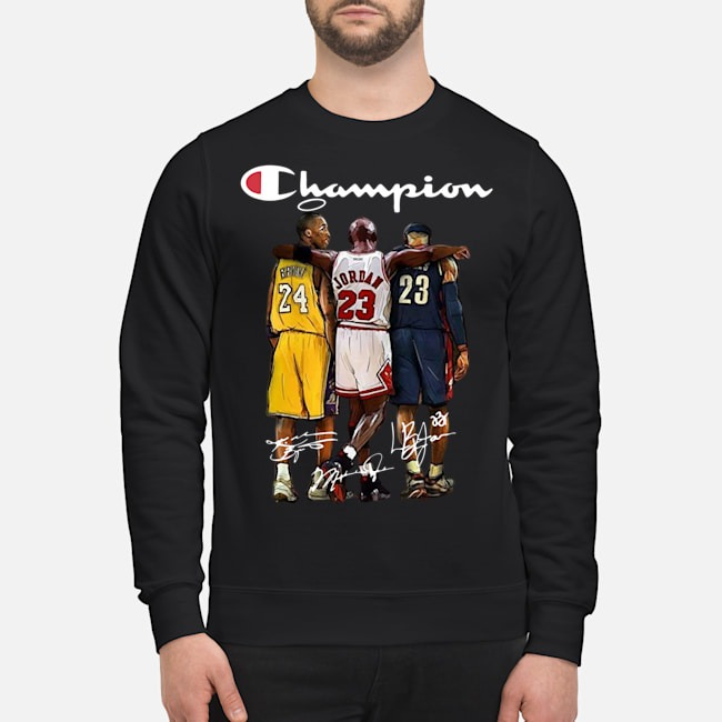 Rip Kobe Bryant Michael Jordan Lebron James Champion Signatures Sweater