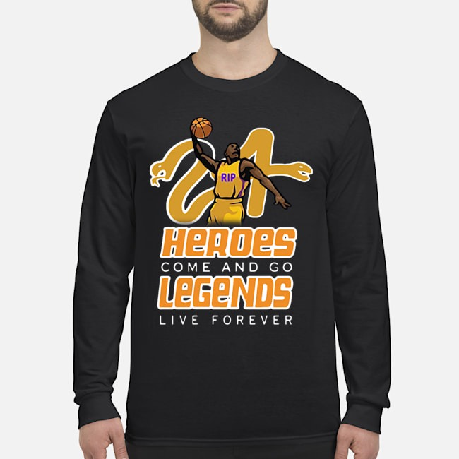 Rip Kobe Memorial Rest In Peace Basketball Legend Tee Long Sleeved T-Shirt