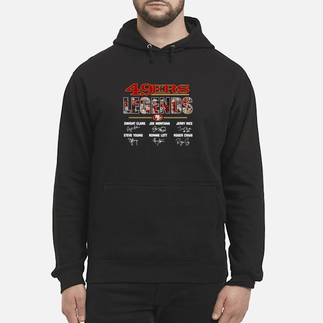 San Francisco 49Ers Legends Player Name Signatures Hoodie