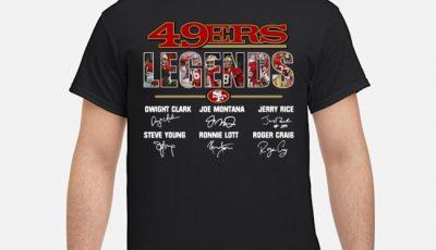 San Francisco 49Ers Legends Player Name Signatures Shirt