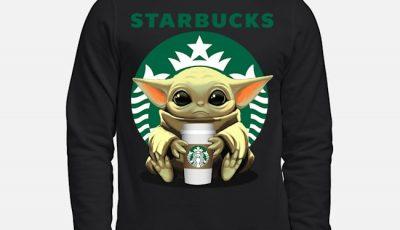 Star Wars Baby Yoda hug Starbucks Sweater