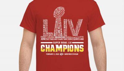 Super Bowl Liv Logo Champions Kansas City Chiefs Shirt