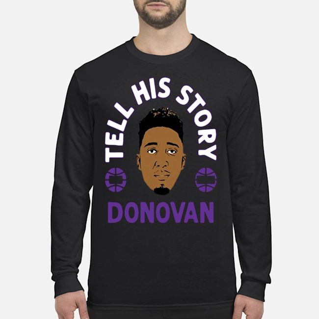 Tell His Story Donovan Mitchell Utah Jazz Tee Long Sleeved T-Shirt