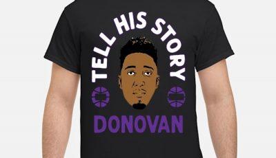 Tell His Story Donovan Mitchell Utah Jazz Tee Shirt