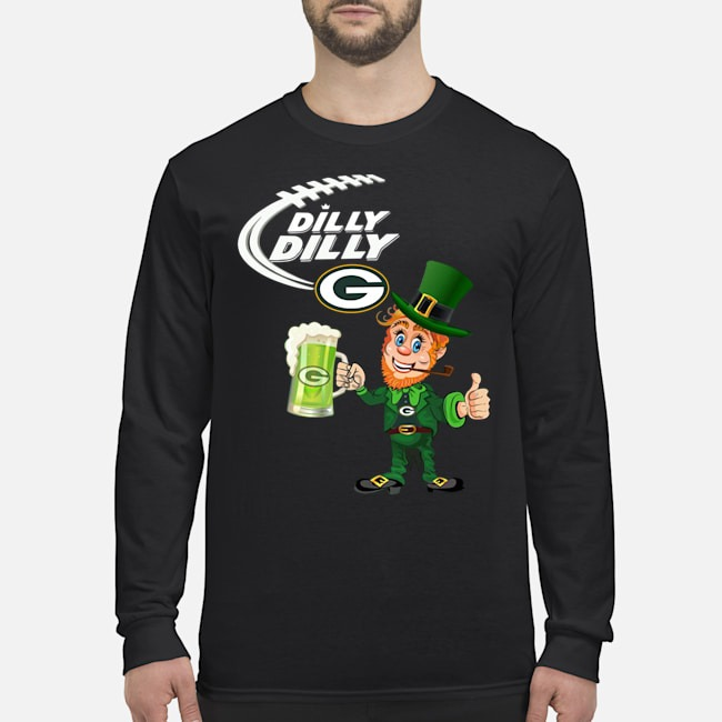 Uncle Sam Dilly Dilly Green Bay Packers Long Sleeved Shirt