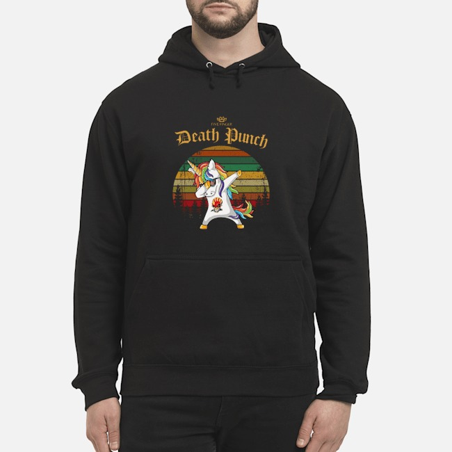 Unicorn Dabbing Five Finger Death Punch Vintage Hoodie