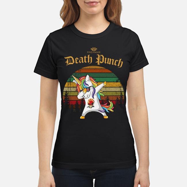 Unicorn Dabbing Five Finger Death Punch Vintage Ladies