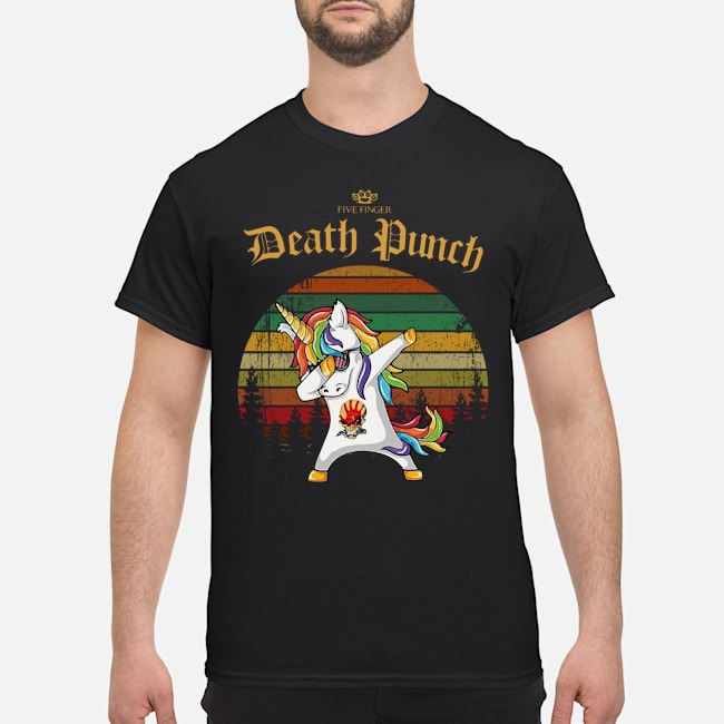 Unicorn Dabbing Five Finger Death Punch Vintage Shirt