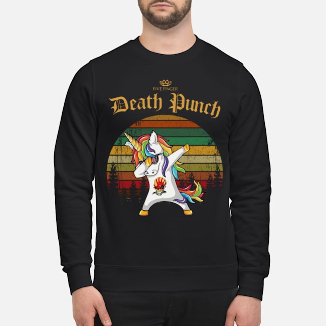 Unicorn Dabbing Five Finger Death Punch Vintage Sweater