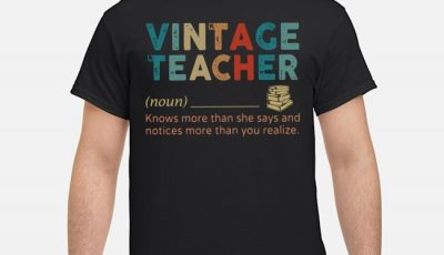 Vintage Teacher Noun Shirt