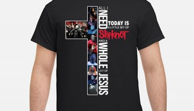 All I need today is a little bit of Slipknot and a whole lot of jesus shirt