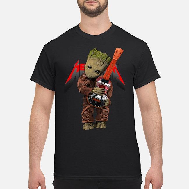 Baby Yoda Hug Metallic Guitar Shirt