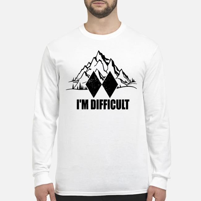 I'm Difficult Skiing Long-Sleeved