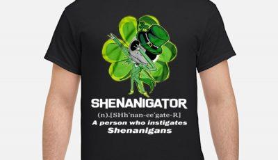 Leprechaun Jack Skeleton Shenanigator A Person Who Instigates Shenanigans St.patrick's Day Shirt
