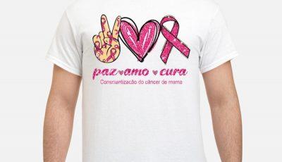 Paz amo cura consciantizacão do câncer de mama shirt