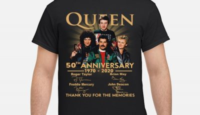 Queen 50th Anniversary 1970 2020 Thank You For The Memories Signatures Vintage Shirt