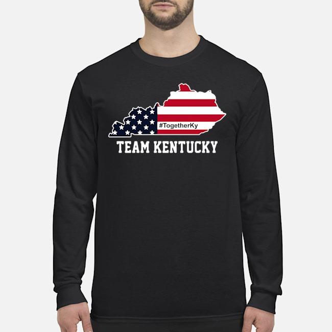 Team Kentucky American Flag Long-Sleeved