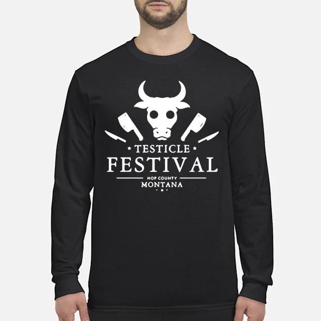 Testicle Festival Hop County Montana Long-Sleeved