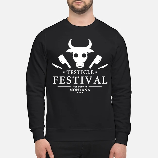 Testicle Festival Hop County Montana Sweater