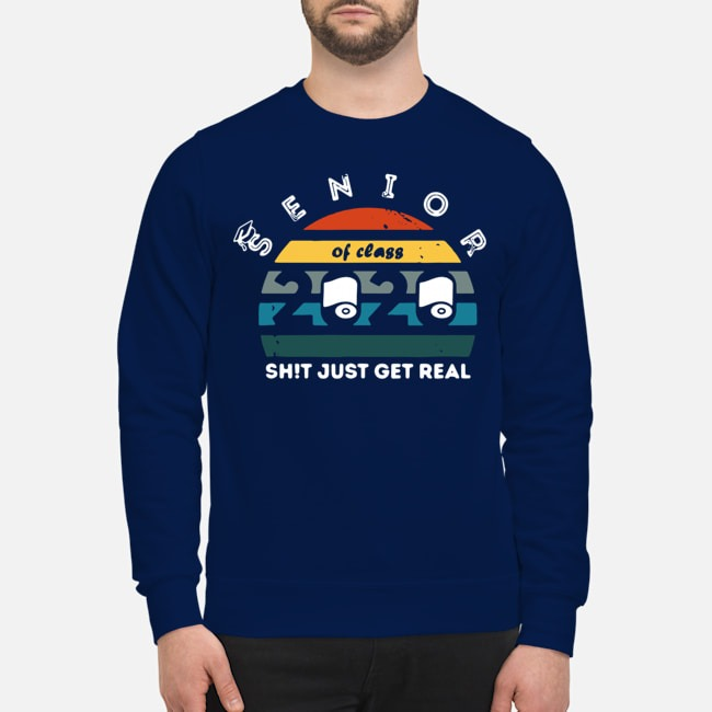 Toilet Paper Class of 2020 Senior Shit Getting Real Vintage Sweater