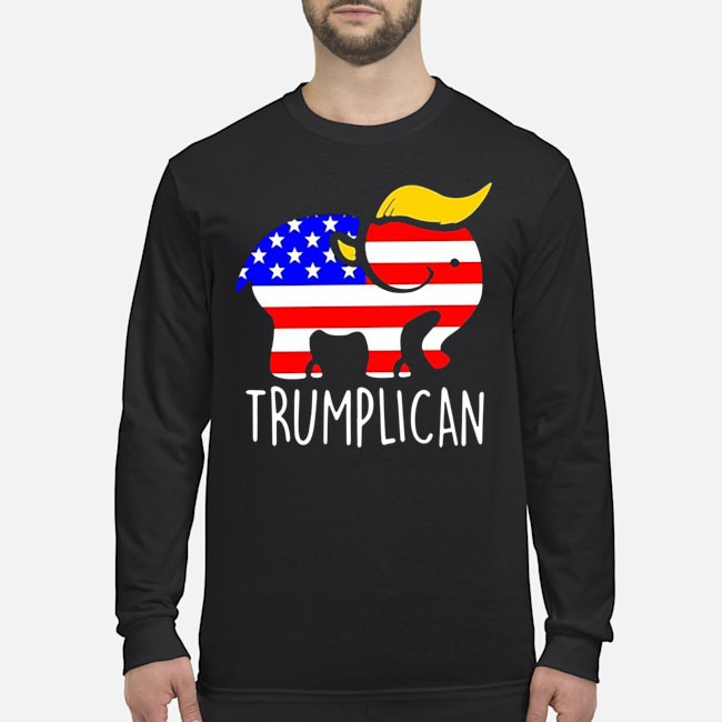 Trumplican Elephant Trump 2020 Long-Sleeved