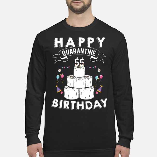 55th Birthday Social Distancing T-Shirt – Quarantine Birthday 55 Years Old Tee Long-Sleeved