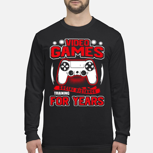 Video Games Social Distance Training For Years Long-Sleeved