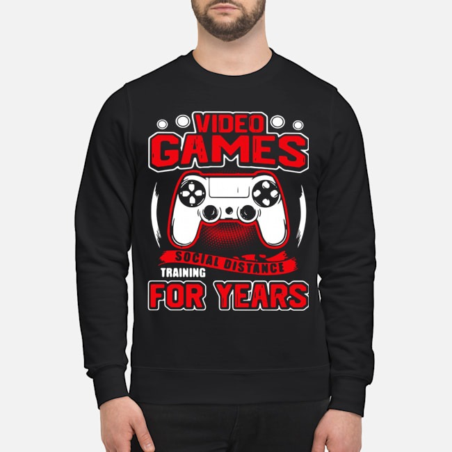 Video Games Social Distance Training For Years Sweater
