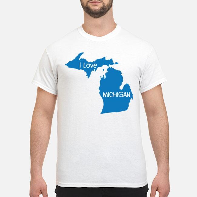 i love michigan map shirt