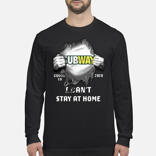 Blood Inside Me Subway Covid-19 2020 I can't stay at home Long-Sleeved