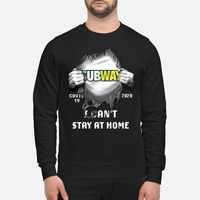 Blood Inside Me Subway Covid-19 2020 I can't stay at home Sweater