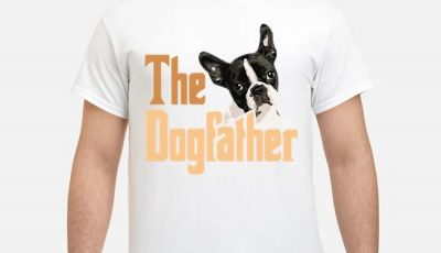 Boston Terrier The Dogfather Fathers Day Shirt