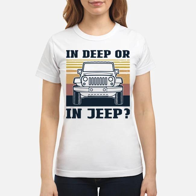 In Deep Or In Jeep Vintage Ladies