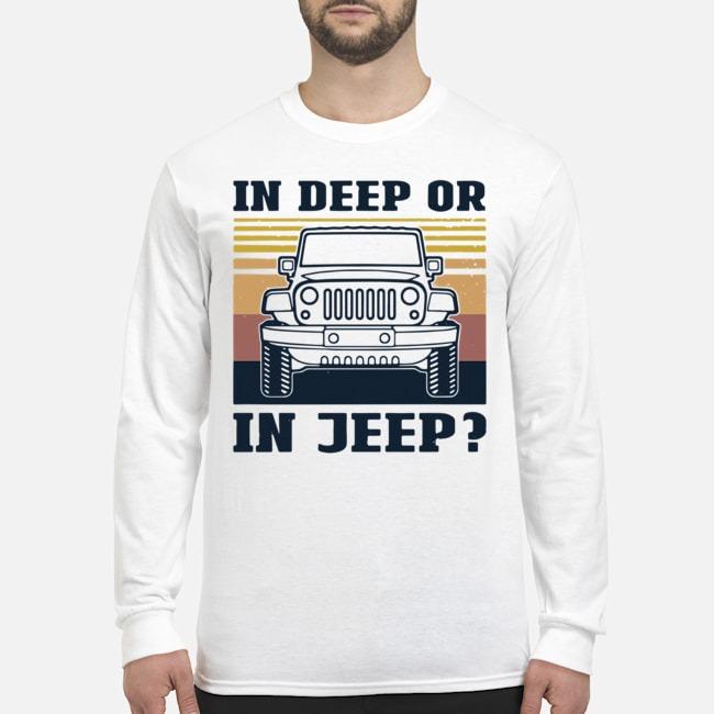 In Deep Or In Jeep Vintage Long-Sleeved