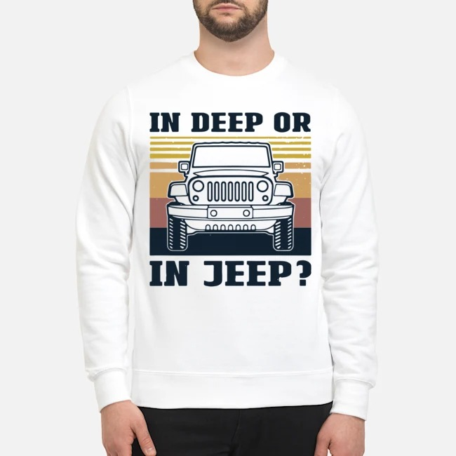In Deep Or In Jeep Vintage Sweater