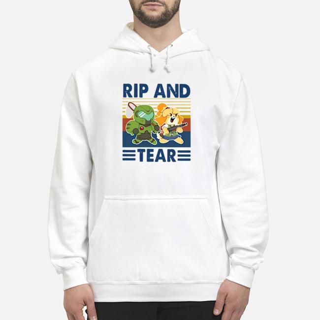 Rip And Tear Vintage Hoodie