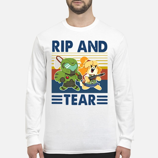 Rip And Tear Vintage Long-Sleeved