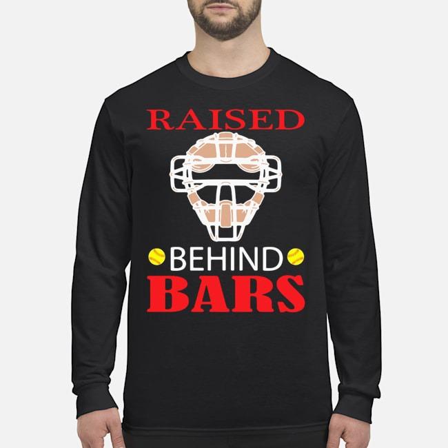 Softball Raised Behind Bars Long-Sleeved